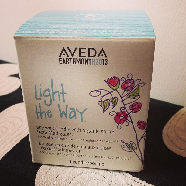 Light The Way AVEDA Earth Month Candle