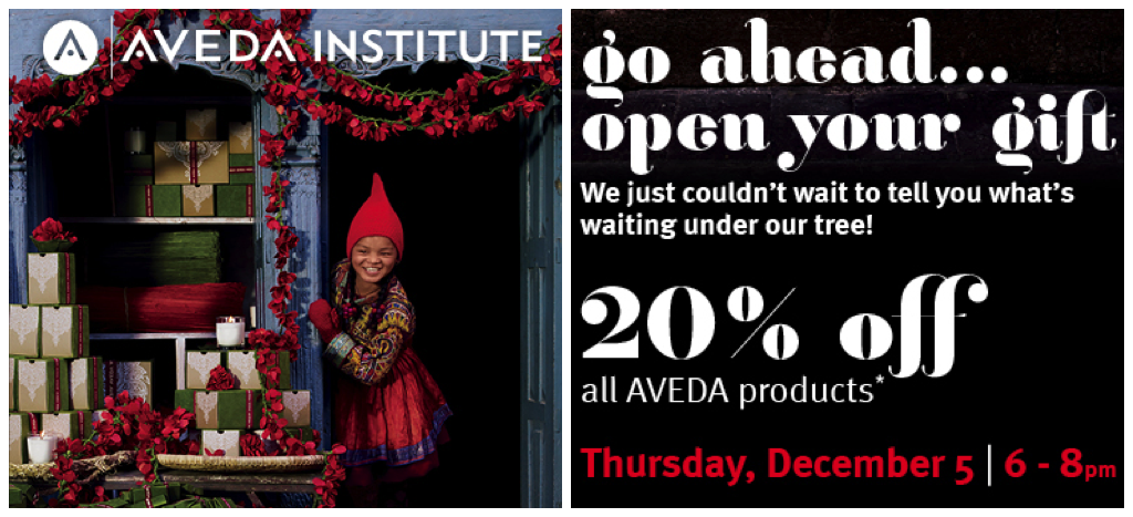 20 off aveda products