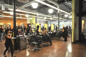 Students at Aveda Arts & Sciences Institute South Florida beauty school in ft lauderdale miami florida area