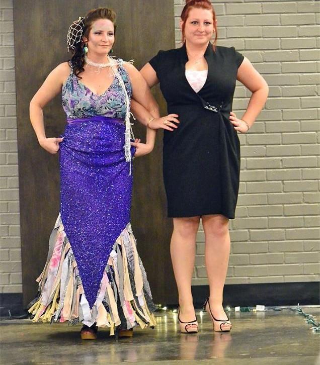 Catwalk for water mermaid dress
