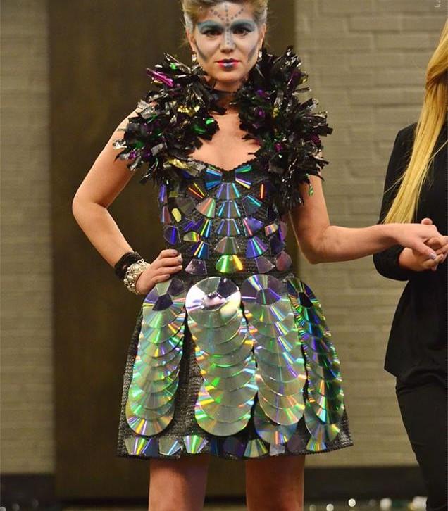 Dress made of CDs