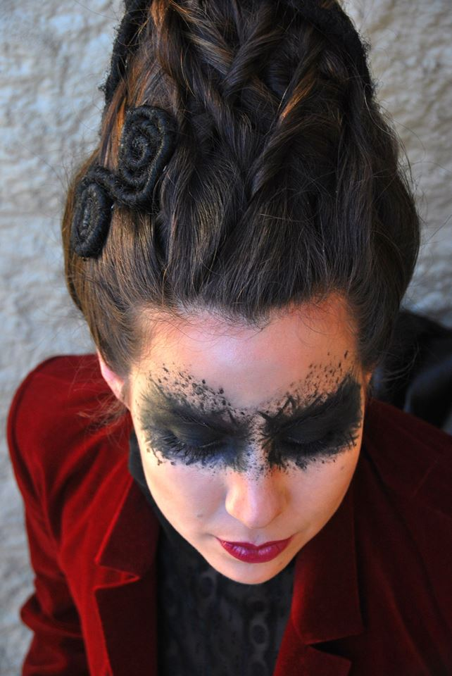 hair and makeup by birmingham beauty school student