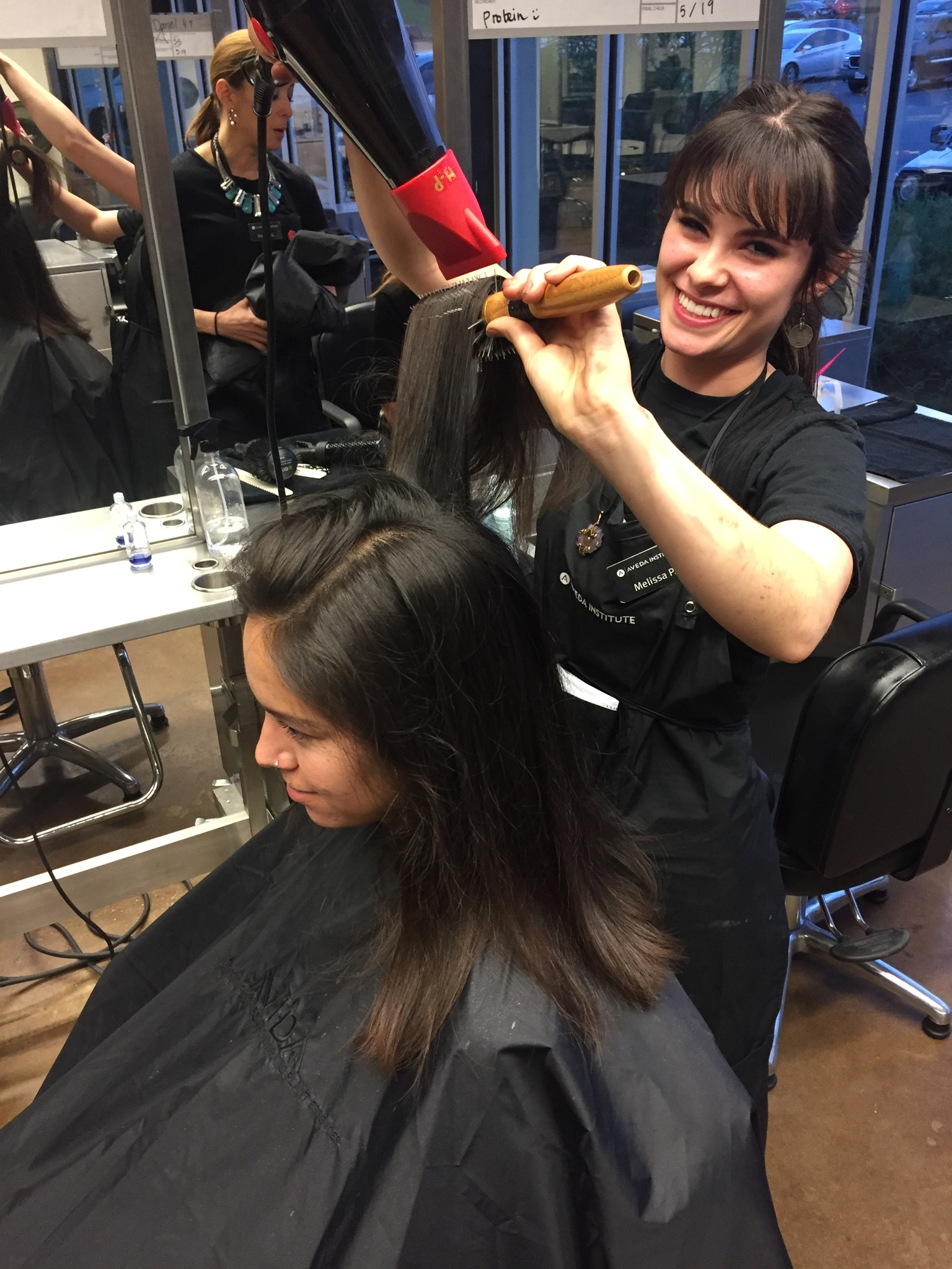 aveda institute austin cosmetology student