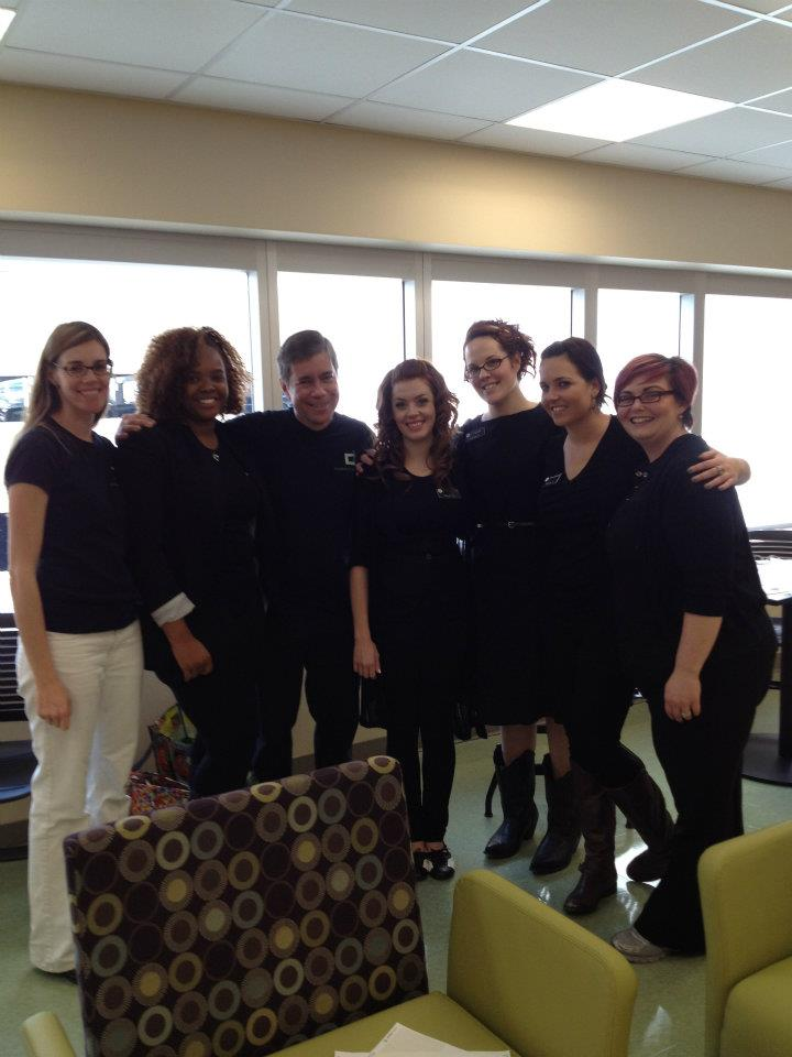Students and Staff from Aveda beauty school